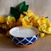 Burnish Blue Soy Wax Candle In a Bowl (Double Wick)