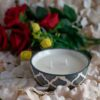 Burnish Grey Soy Wax Candle In a Bowl (Double Wick)