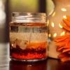 Beach Layer Gel Candle In A Jar With Shells & Chip Stones