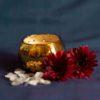 Golden Sparkling Vase Candle (Jasmine & Orchid Aroma)
