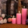 Romantic Pillar Candle In Soy Wax (Set of 3)