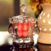Tea Rose Crystal Jar Candle (Soy Wax) | With Hibiscus Petals