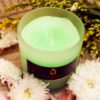 White Rime Candle Green Apple Essence